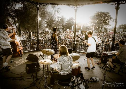 """Performing with my Neo-Soul band """"Efiada"""" @ """"Stompin on the Quomps"""" festival 2018 in Christchurch."""